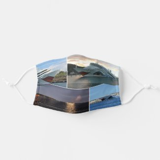 AIDAluna Cruise Ship Collage Adult Cloth Face Mask