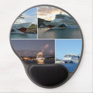 AIDAluna Cruise Ship Collage Gel Mouse Pad