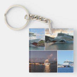 AIDAluna Cruise Ship Collage Keychain