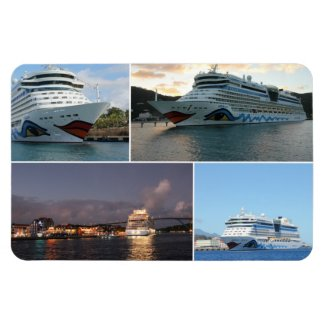 AIDAluna Cruise Ship Collage Magnet