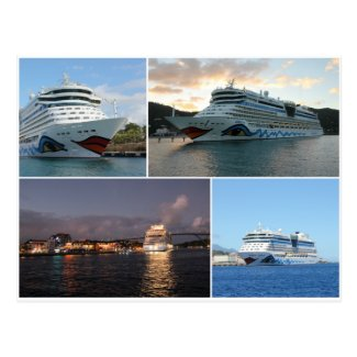 AIDAluna Cruise Ship Collage Postcard