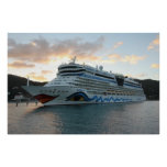 AIDAluna Cruise Ship in Road Town on Tortola Poster