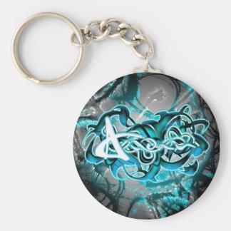 Aidan Basic Round Button Keychain
