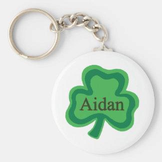 Aidan Irish Name Basic Round Button Keychain