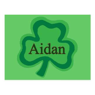 Aidan Irish Name Postcard
