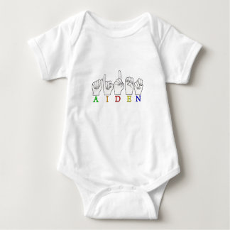 AIDEN ASL FINGERSPELLED NAME SIGN MALE BABY BODYSUIT