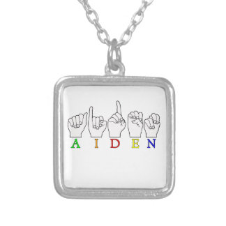 AIDEN ASL FINGERSPELLED NAME SIGN MALE JEWELRY