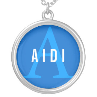 Aidi Breed Monogram Silver Plated Necklace