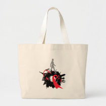 AIDS aware Large Tote Bag