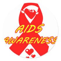 AIDS Awareness#3_ Classic Round Sticker