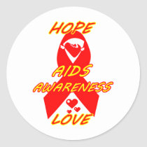 AIDS Awareness#3_ Classic Round Sticker