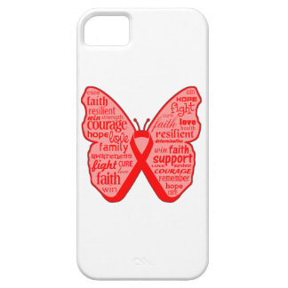 AIDS Awareness Butterfly Ribbon iPhone 5 Cover
