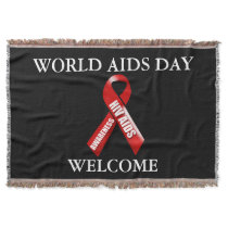 Aids awareness campaign black | Personalize Throw Blanket