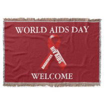 Aids awareness campaign | Personalize Throw Blanket