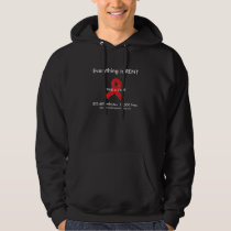 AIDS Awareness dark hoodie