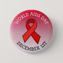 AIDS AWARENESS DAY DECEMBER 1ST BUTTON