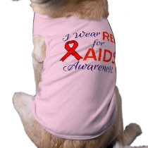 Aids Awareness Doggie Ribbed Tank Top