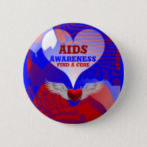 AIDS Awareness,Find A Cure_Button Pinback Button