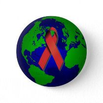 AIDS Awareness for All Pinback Button