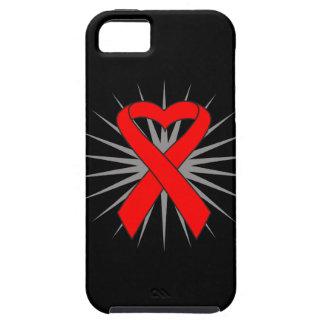 AIDS Awareness Heart Ribbon iPhone 5 Case