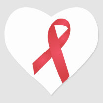 AIDS Awareness Heart Sticker