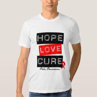 Aids Awareness Hope Love Cure T Shirt