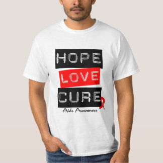 Aids Awareness Hope Love Cure T-shirt