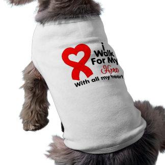 AIDS Awareness I Walk For My Hero Doggie T-shirt