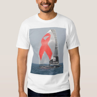 aids awareness in the America's Cup Tee Shirt