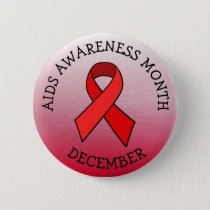 AIDS AWARENESS MONTH DECEMBER BUTTON