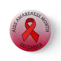 AIDS AWARENESS MONTH DECEMBER BUTTON
