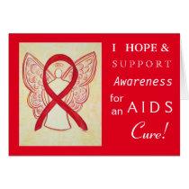 AIDS Awareness Red Ribbon Greeting Card