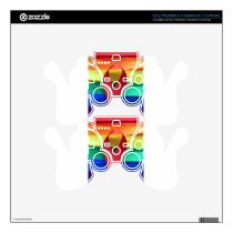 AIDS awareness red ribbon on gay flag Decal For PS3 Controller