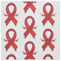 Aids Awareness Ribbon Fabric