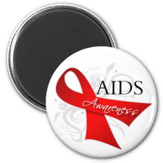 AIDS Awareness Ribbon Refrigerator Magnet