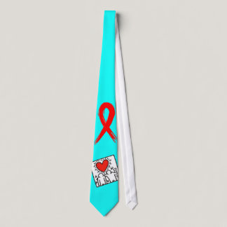 AIDS Awareness Ribbon Tie
