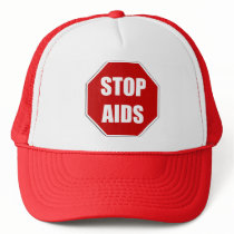 AIDS Awareness Stop Sign Hat