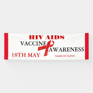 Aids awareness vaccine day | Personalize Banner