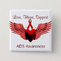 AIDS Awarness,Love,Care,Support_ Button