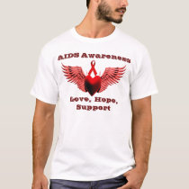 AIDS Awarness,Love & Care,Support_ T-Shirt