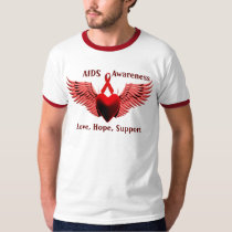 AIDS Awarness,Love,Care,Support_ T-Shirt