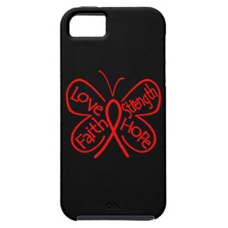 AIDS Butterfly Inspiring Words iPhone 5 Cases