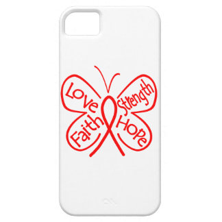 AIDS Butterfly Inspiring Words iPhone 5 Cover