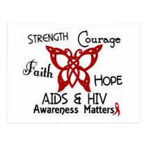 AIDS Celtic Butterfly 3 Postcard