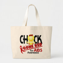 AIDS Chick Gone Red 2 Large Tote Bag