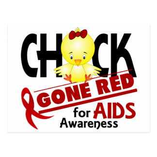 AIDS Chick Gone Red 2 Postcard