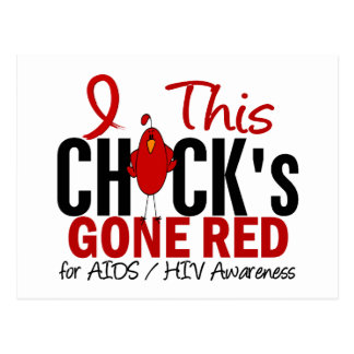 AIDS Chick Gone Red Postcard
