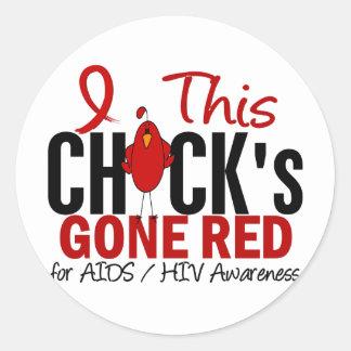 AIDS Chick Gone Red Sticker
