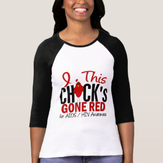 AIDS Chick Gone Red T-Shirt