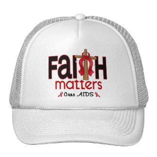 AIDS Faith Matters Cross 1 Trucker Hat